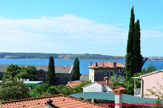 the view from our Majda apartment in Portoroz