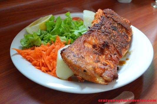 grilled salmon in Chile