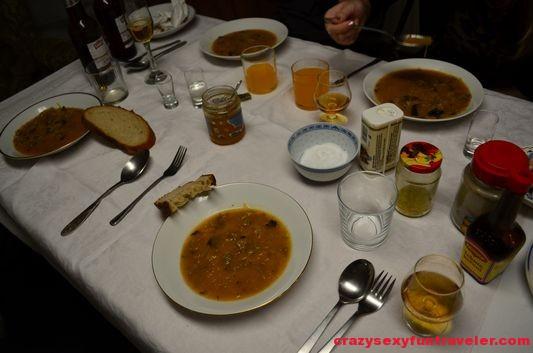 Christmas sauerkraut soup