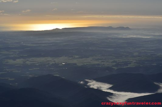 sunrise above La Garrotxa volcanoes