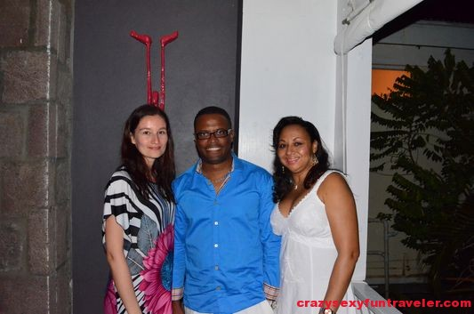 dinner with the Minister of Tourism of Nevis Mark Brantley