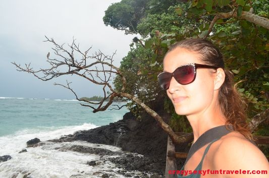 crazy sexy fun traveler at Cristobel Point Red Frog Beach Bastimentos