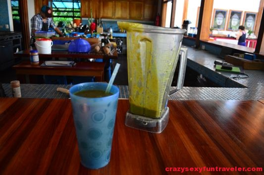 healthy raw vegan green smoothies at Blue Osa
