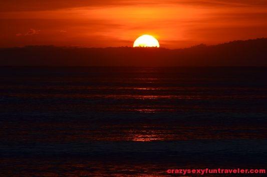 Puerto Jimenez Osa Peninsula sunrise from Blue Osa