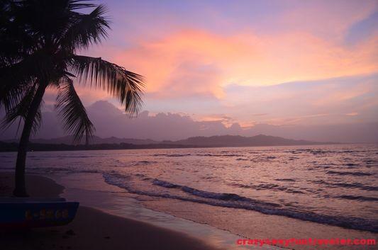 sunset in Puerto Viejo, Costa Rica