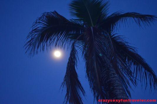 full moon in Puerto Viejo