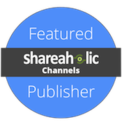 I'm a featured publisher in Shareaholic's Content Channels