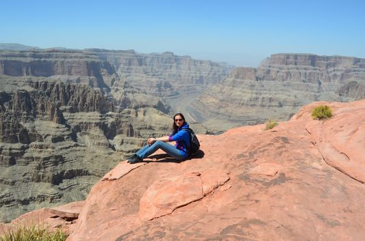 at Highpoint Hike Grand Canyon West Rim