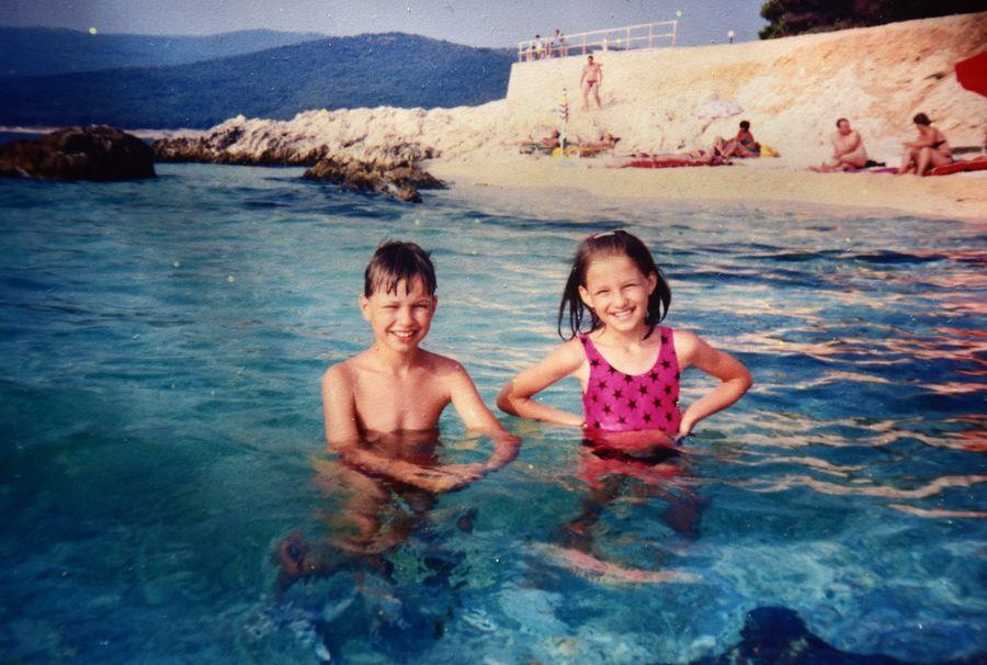 s bratom prvykrat v Chorvatsku