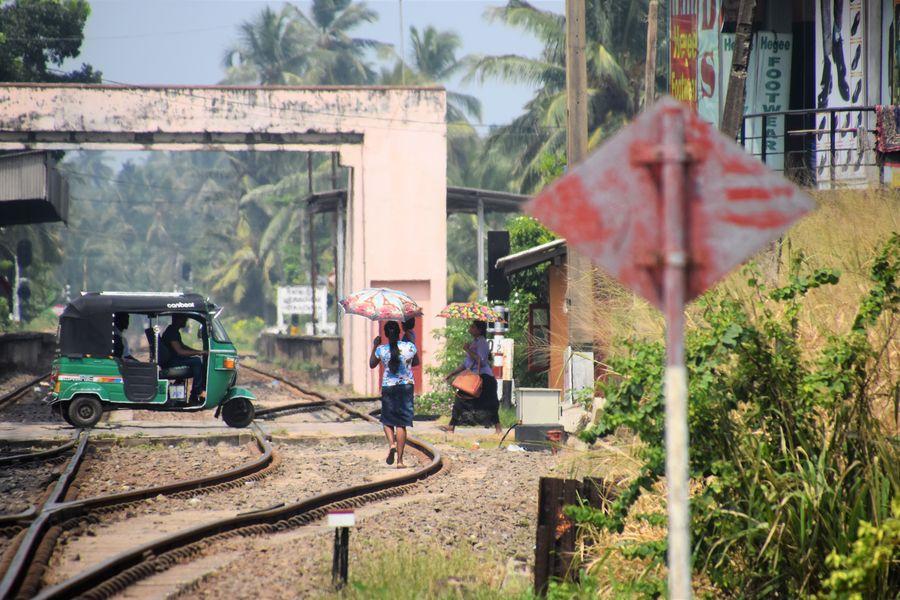 zeleznica v Hikkaduwa