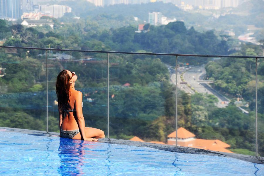 v hoteli Aloft s vyhladom na Kuala Lumpur