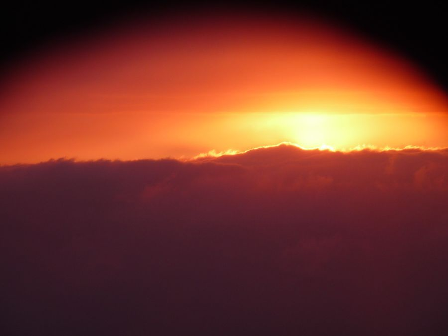 vychod slnka z lietadla