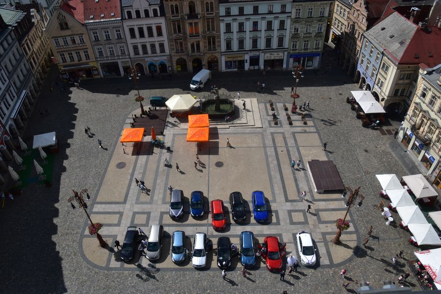 Liberec hlavne namestie z veze