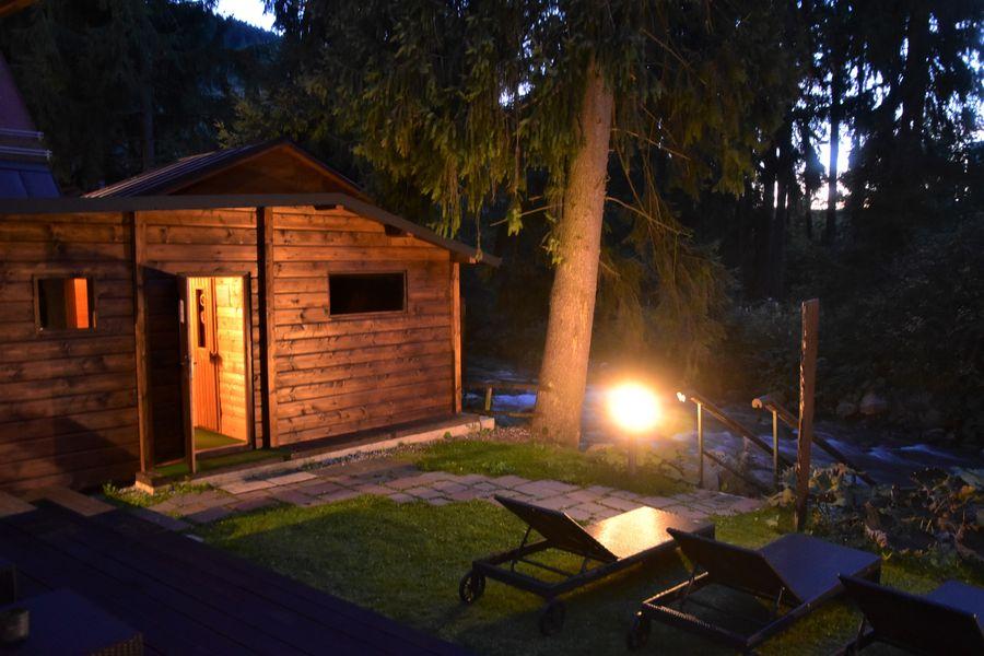 vecerna finska sauna welness hotel Tri Studnicky