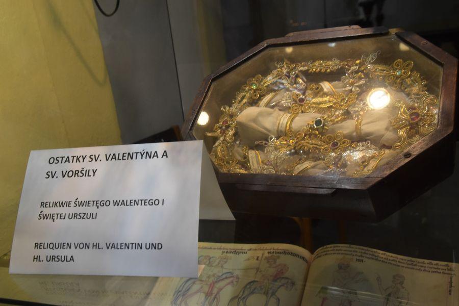 pozostatky Sv. Valentina Kostol Navstivenia Panny Marie