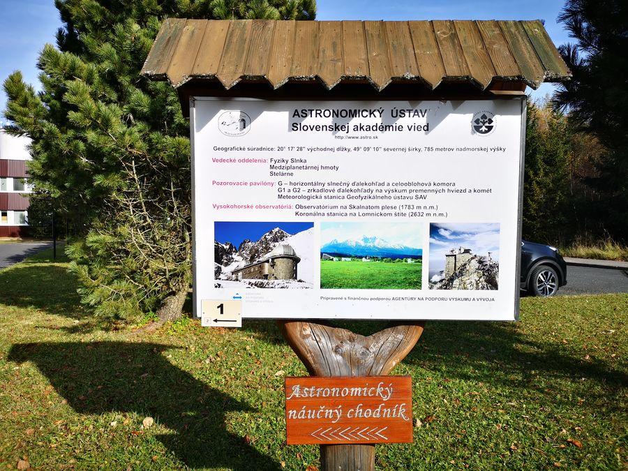 Astronomicky naucny chodnik Stara Lesna - zaciatok