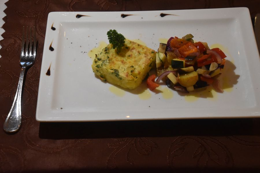 zeleninovy ratatouille a zemiakovy fondant