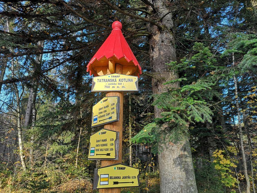 Tatranska Kotlina zaciatok tury na chatu Plesnivec