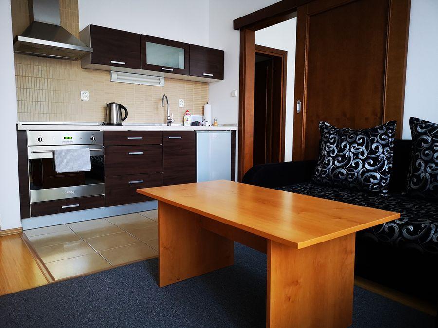 kuchynka s obyvackou Wili Tatry apartmany