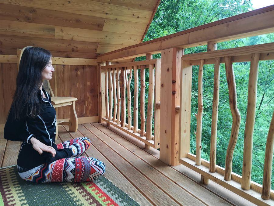 Stromodomcek Relov meditacia na balkone