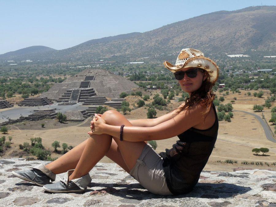 Teotihuacan pyramidy v Mexiku