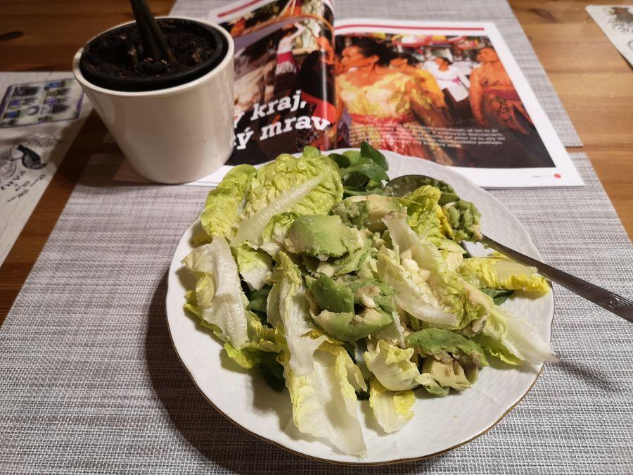 salat na veceru pri citani