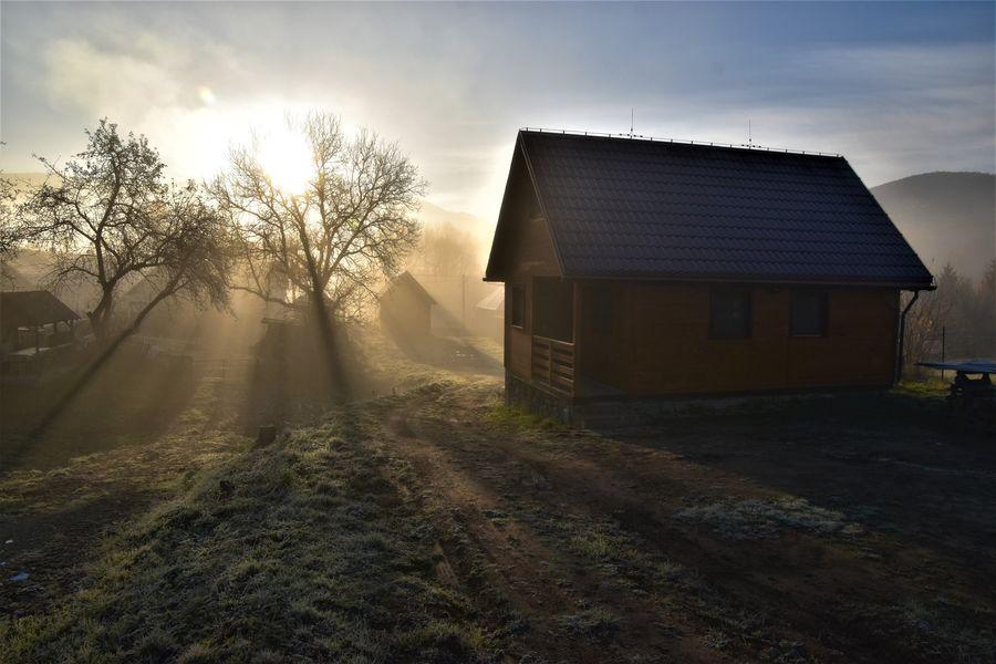 chata v Runine v novembri