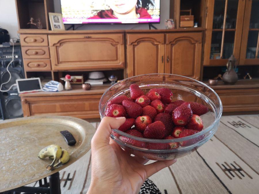 jahody na obed