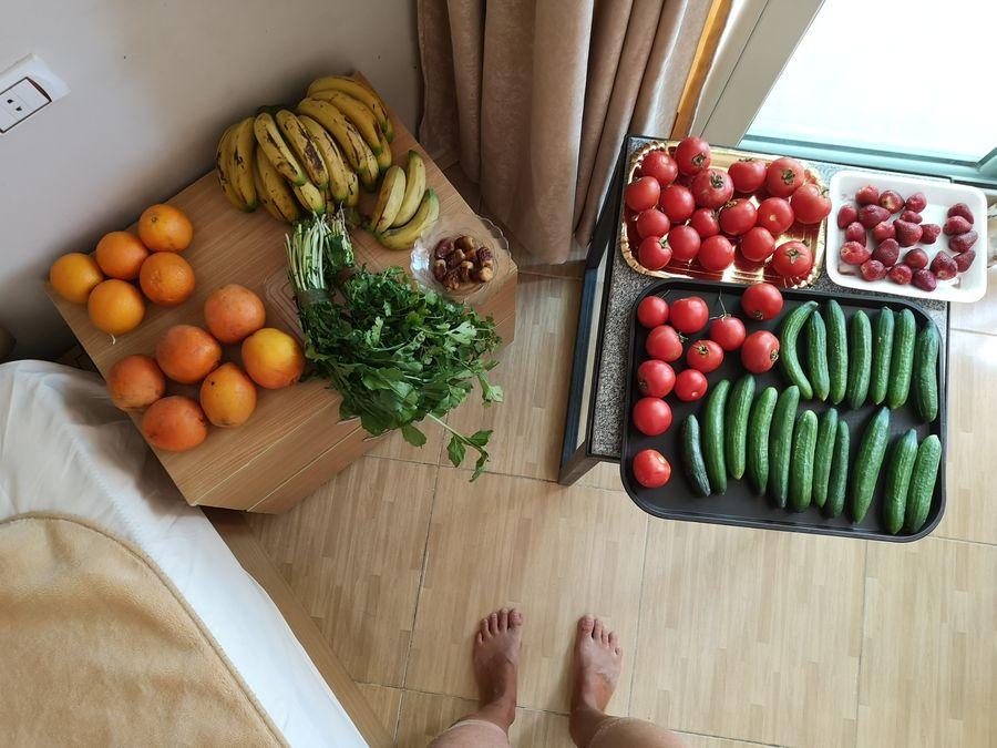ovocie a zelenina z trhu v Hurghade