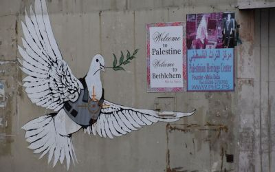 Banksy Graffiti Bethlehem West Bank Palestine (134)