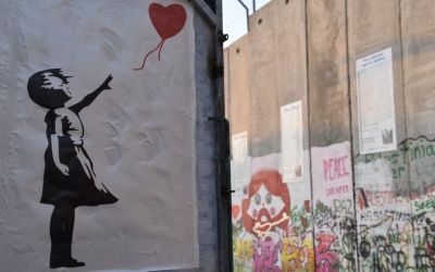 Banksy Shop Graffiti Separation Wall Bethlehem West Bank Palestine (65)