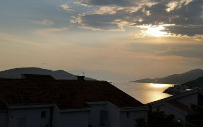 sunset Neum Bosnia and Herzegovina