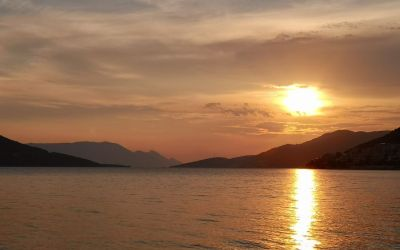 incredible sunset seen in Neum Bosnia and Herzegovina