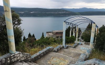 old staircase Neum Bosnia and Herzegovina