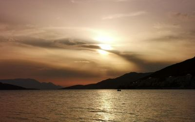 cloudy sunset Neum Bosnia and Herzegovina