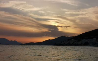 after sunset Neum Bosnia and Herzegovina