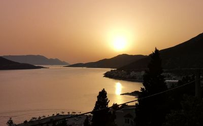 Adriatic sea sunset in Neum Bosnia and Herzegovina