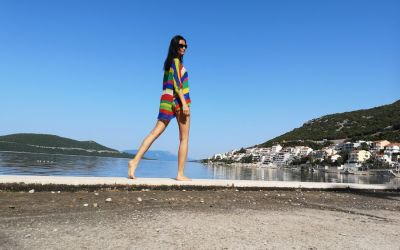 enjoying a morning walk in Neum Bosnia and Herzegovina