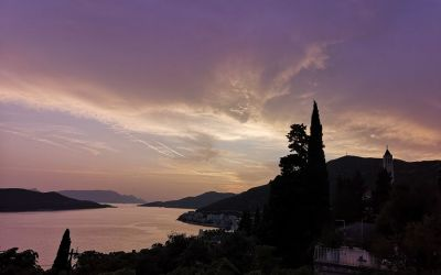sunset in Neum Bosnia and Herzegovina