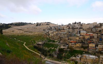 Silwan Arab Neighborhood Seen From City Of David (3)