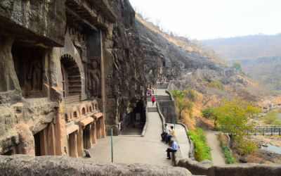 UNESCO Ajanta Caves Deccan Odyssey Luxury Train (35)