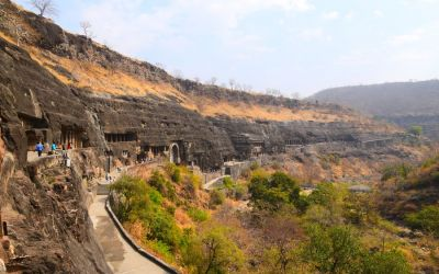 UNESCO Ajanta Caves Deccan Odyssey Luxury Train (54)