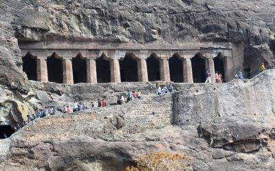 UNESCO Ajanta Caves Deccan Odyssey Luxury Train (69)