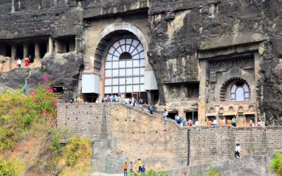 UNESCO Ajanta Caves Deccan Odyssey Luxury Train (72)