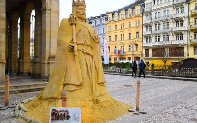 Things To Do In Karlovy Vary Czech Republic Sand Statue Of Charles Iv 111