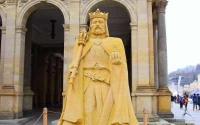 Things To Do In Karlovy Vary Czech Republic Sand Statue Of Charles Iv 112