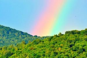 Rainbow in Snina Slovakia