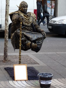 statue art La Rambla