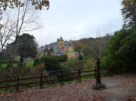 beautiful colourful Kelburn Castle