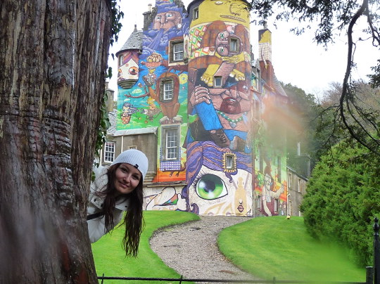 at beautiful Kelburn Castle
